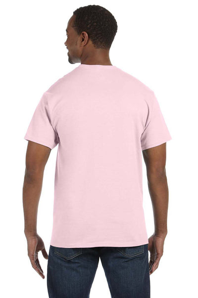 Jerzees 29M Mens Dri-Power Moisture Wicking Short Sleeve Crewneck T-Shirt Classic Pink Back