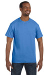 Jerzees 29M Mens Dri-Power Moisture Wicking Short Sleeve Crewneck T-Shirt Columbia Blue Front