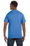 Jerzees 29M Mens Dri-Power Moisture Wicking Short Sleeve Crewneck T-Shirt Columbia Blue Back