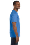 Jerzees 29M Mens Dri-Power Moisture Wicking Short Sleeve Crewneck T-Shirt Columbia Blue Side