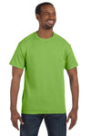 Jerzees 29M Mens Dri-Power Moisture Wicking Short Sleeve Crewneck T-Shirt Kiwi Green Front