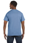 Jerzees 29M Mens Dri-Power Moisture Wicking Short Sleeve Crewneck T-Shirt Light Blue Back