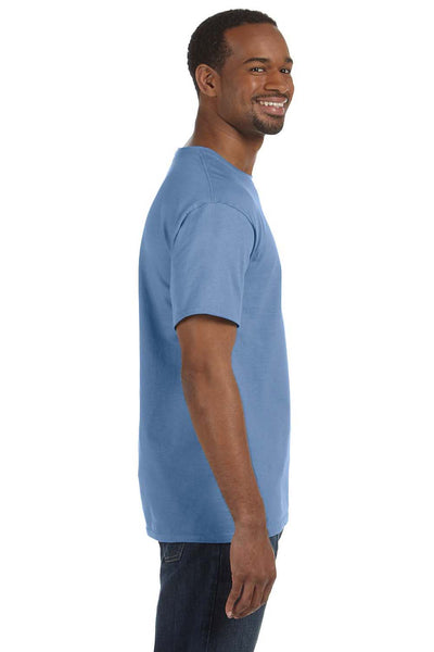 Jerzees 29M Mens Dri-Power Moisture Wicking Short Sleeve Crewneck T-Shirt Light Blue Side