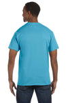 Jerzees 29M Mens Dri-Power Moisture Wicking Short Sleeve Crewneck T-Shirt Aquatic Blue Back