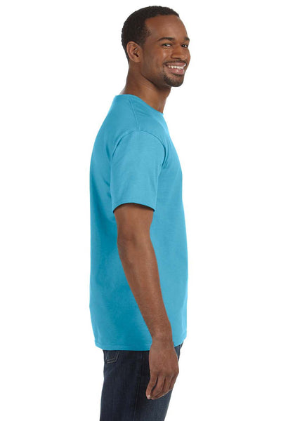 Jerzees 29M Mens Dri-Power Moisture Wicking Short Sleeve Crewneck T-Shirt Aquatic Blue Side