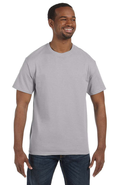 Jerzees 29M Mens Dri-Power Moisture Wicking Short Sleeve Crewneck T-Shirt Silver Grey Front