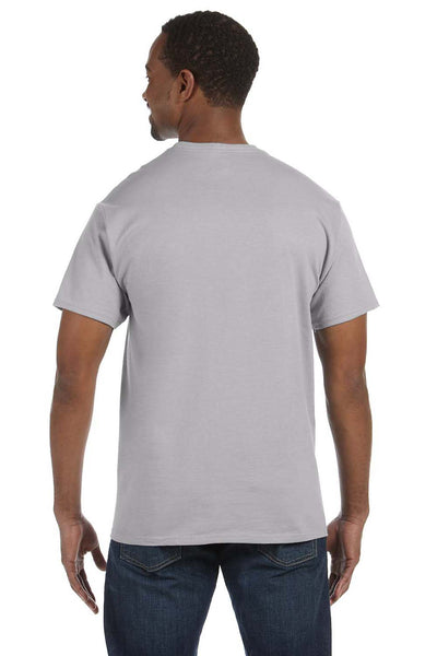 Jerzees 29M Mens Dri-Power Moisture Wicking Short Sleeve Crewneck T-Shirt Silver Grey Back