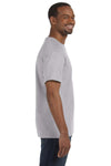 Jerzees 29M Mens Dri-Power Moisture Wicking Short Sleeve Crewneck T-Shirt Silver Grey Side
