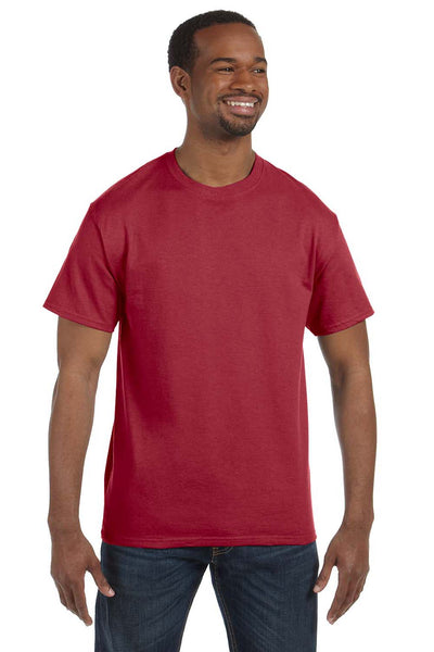 Jerzees 29M Mens Dri-Power Moisture Wicking Short Sleeve Crewneck T-Shirt Crimson Red Front