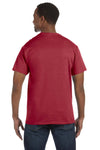 Jerzees 29M Mens Dri-Power Moisture Wicking Short Sleeve Crewneck T-Shirt Crimson Red Back