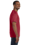 Jerzees 29M Mens Dri-Power Moisture Wicking Short Sleeve Crewneck T-Shirt Crimson Red Side
