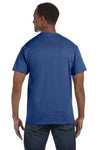 Jerzees 29M Mens Dri-Power Moisture Wicking Short Sleeve Crewneck T-Shirt Heather Blue Back