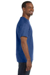 Jerzees 29M Mens Dri-Power Moisture Wicking Short Sleeve Crewneck T-Shirt Heather Blue Side
