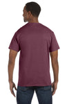 Jerzees 29M Mens Dri-Power Moisture Wicking Short Sleeve Crewneck T-Shirt Heather Maroon Back
