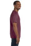Jerzees 29M Mens Dri-Power Moisture Wicking Short Sleeve Crewneck T-Shirt Heather Maroon Side