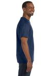 Jerzees 29M Mens Dri-Power Moisture Wicking Short Sleeve Crewneck T-Shirt Heather Navy Blue Side