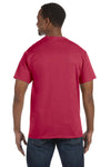 Jerzees 29M Mens Dri-Power Moisture Wicking Short Sleeve Crewneck T-Shirt Heather Red Back
