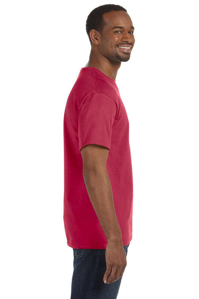 Jerzees 29M Mens Dri-Power Moisture Wicking Short Sleeve Crewneck T-Shirt Heather Red Side