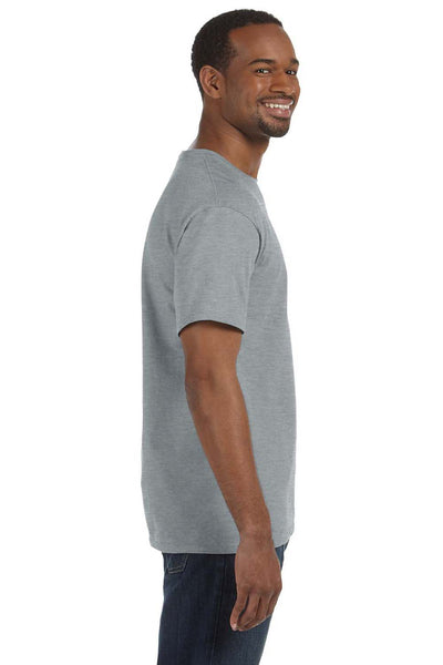 Jerzees 29M Mens Dri-Power Moisture Wicking Short Sleeve Crewneck T-Shirt Heather Grey Side