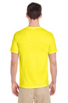 Jerzees 29M Mens Dri-Power Moisture Wicking Short Sleeve Crewneck T-Shirt Neon Yellow Back