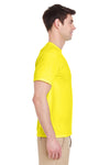 Jerzees 29M Mens Dri-Power Moisture Wicking Short Sleeve Crewneck T-Shirt Neon Yellow Side