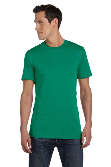 Bella + Canvas 3001C Mens Jersey Short Sleeve Crewneck T-Shirt Kelly Green Front