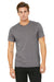 Bella + Canvas 3001C Mens Jersey Short Sleeve Crewneck T-Shirt Heather Storm Grey Front