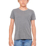 Bella + Canvas Youth Jersey Short Sleeve Crewneck T-Shirt - Heather Deep Grey