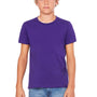 Bella + Canvas Youth Jersey Short Sleeve Crewneck T-Shirt - Team Purple
