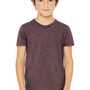Bella + Canvas Youth Jersey Short Sleeve Crewneck T-Shirt - Heather Maroon