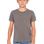 Bella + Canvas Youth Jersey Short Sleeve Crewneck T-Shirt - Asphalt Grey
