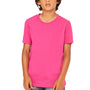 Bella + Canvas Youth Jersey Short Sleeve Crewneck T-Shirt - Berry Pink