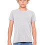 Bella + Canvas Youth Jersey Short Sleeve Crewneck T-Shirt - Heather Grey