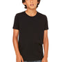 Bella + Canvas Youth Jersey Short Sleeve Crewneck T-Shirt - Black