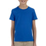 Bella + Canvas Youth Jersey Short Sleeve Crewneck T-Shirt - True Royal Blue