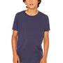 Bella + Canvas Youth Jersey Short Sleeve Crewneck T-Shirt - Navy Blue
