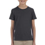 Bella + Canvas Youth Jersey Short Sleeve Crewneck T-Shirt - Heather Dark Grey