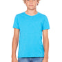Bella + Canvas Youth Jersey Short Sleeve Crewneck T-Shirt - Neon Blue