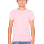 Bella + Canvas Youth Jersey Short Sleeve Crewneck T-Shirt - Neon Pink