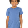 Bella + Canvas Youth Jersey Short Sleeve Crewneck T-Shirt - Heather Columbia Blue