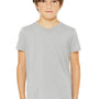 Bella + Canvas Youth Jersey Short Sleeve Crewneck T-Shirt - Heather Stone