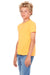 Bella + Canvas 3001Y Youth Jersey Short Sleeve Crewneck T-Shirt Neon Orange Side