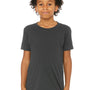 Bella + Canvas Youth Jersey Short Sleeve Crewneck T-Shirt - Dark Grey