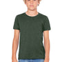 Bella + Canvas Youth Jersey Short Sleeve Crewneck T-Shirt - Heather Forest Green