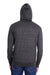 Threadfast Apparel 302Z Mens Full Zip Hooded Sweatshirt Hoodie Black Back