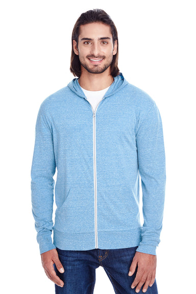 Threadfast Apparel 302Z Mens Full Zip Hooded Sweatshirt Hoodie Royal Blue Front