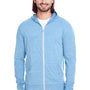 Threadfast Apparel Mens Full Zip Hooded Sweatshirt Hoodie - Royal Blue