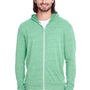 Threadfast Apparel Mens Full Zip Hooded Sweatshirt Hoodie - Green