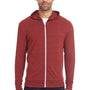 Threadfast Apparel Mens Full Zip Hooded Sweatshirt Hoodie - Cardinal Black