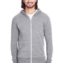 Threadfast Apparel Mens Full Zip Hooded Sweatshirt Hoodie - Grey